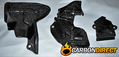 Ducati Panigale 1199 1299 100% Carbon Fibre Engine Belt Covers In Gloss