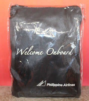 Philippine Airlines Welcome Onboard Black In Flight Amenity Kits Pouch Bag