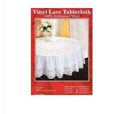 Brand New Vinyl Lace Tablecloth 135Cm Round