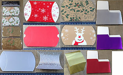 Christmas pillow gift boxes and cubes - perfect for jewellery and small gifts.