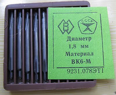 Packing 10 PCS D 1,8 mm CENTER CARBIDE  DRILLS COMBINED .