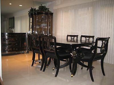 Dining Room Set, Union National Chinoiserie, 10 pce