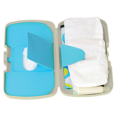 New Koo-Di Essential Baby Box Retro Turquoise With Dual Access Wipe Compartments