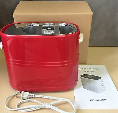 New, Electronics Pop-Up Hot Dog and Bun Toaster Red