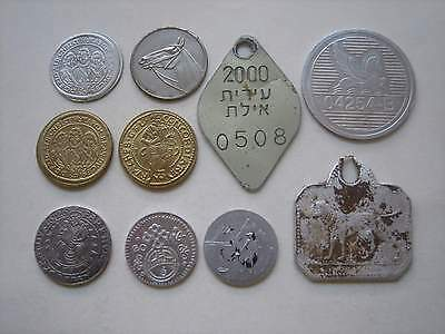 Lot of 10 tokens. Germany, Hungary, Israel, etc..