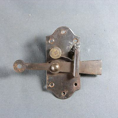 ANTIQUE FRENCH VINTAGE Iron Door Bolt Lock Country Rustic