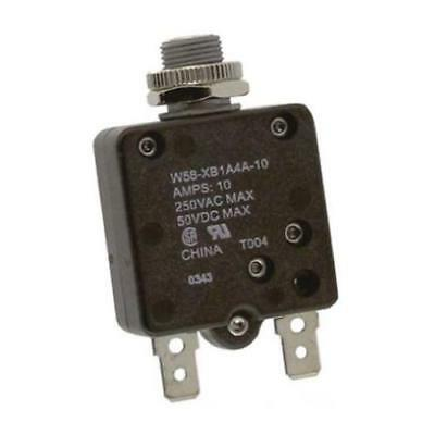 1 x TE Connectivity W58-XB1A4A-10, Thermal Magnetic Circuit Breaker 250V ac
