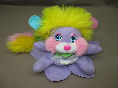 """Vintage 1987 POPPLES FLOWER Purple Transforming 6"""" DAISY Yellow Hair EXCELLENT"""