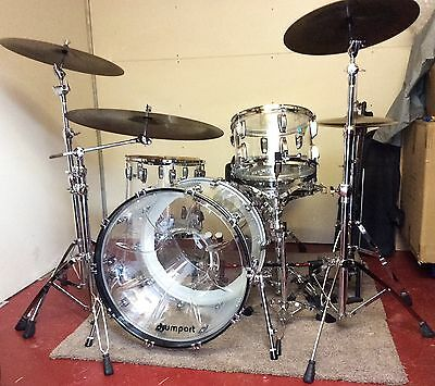 LUDWIG VISTALITE Clear Acrylic FULL DRUM KIT+ DW 9000 PEDALS + PAISTE GIANT BEAT