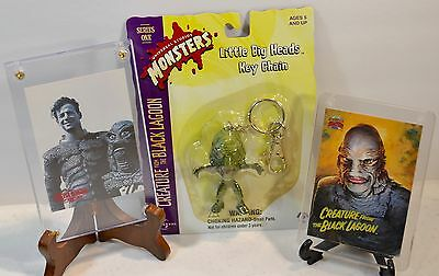 Creature From The Black Lagoon Key Chain + Basil Gogos + Ricou Browning Cards