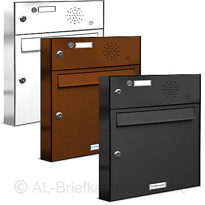 briefkasten edelstahl unterputz wandeinbau sprechfach 1 klingel o sprechanlage eur 409 00. Black Bedroom Furniture Sets. Home Design Ideas