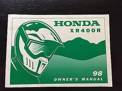 1998 Honda XR400R Owner's Manual