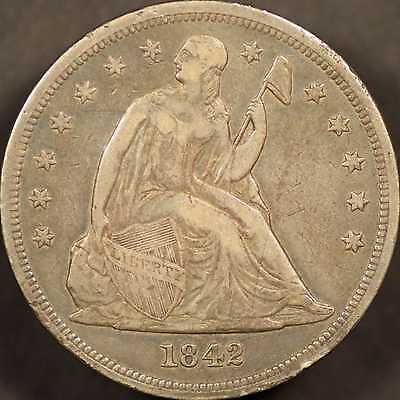 1842 Seated Liberty Dollar VF Details