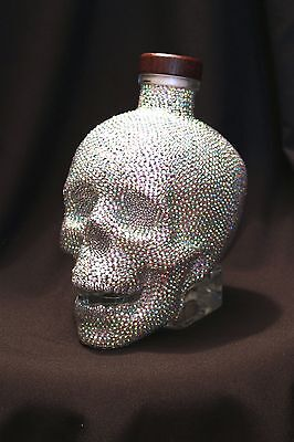stunning Quality Hand customised,Crystal Head vodka bottle,great unique gift