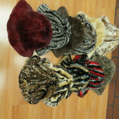 NWTs $3455 wholesale lot 11 rex rabbit fur HATS quality luxury FREE SHIP USA!