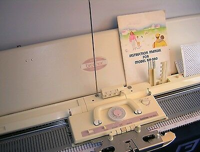 Brother knitting machine chunky punch card KH 260 complete