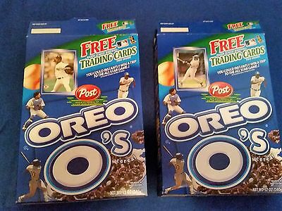 2002 Post Oreo O's cereal - Barry Bonds and Pedro Martinez - OPENED