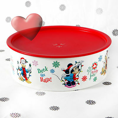 NEW Tupperware Disney Mickey Mouse Donald Pluto Christmas Canister  2.5Litre