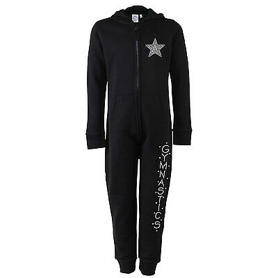 Diamante Rhinestone Bling Gymnastics Gymnast Onesie 6 Colours 5/13yrs