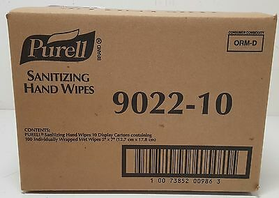 New Purell Sanitizing Hand Wipes Individually Wrapped 10 BOX LOT 1000 WIPES CASE