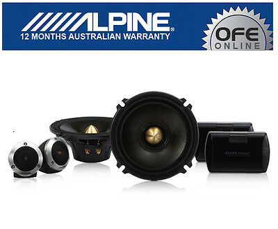 "Alpine DLX-F17S DDLinear 6.5"" 2 Way Component Speakers ALPINE AU WARRANTY"