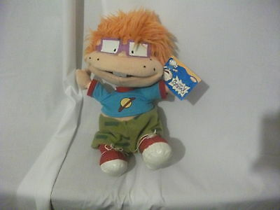 "13"" cute soft chuckie from rugrats gosh plush doll new tag"
