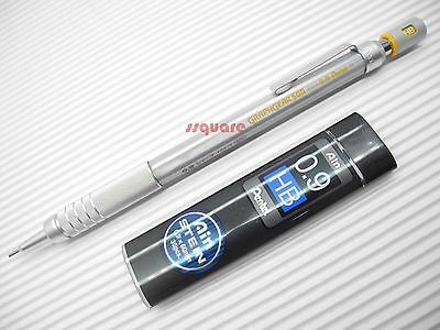 1 x Pentel PG519 Graphgear 500 0.9mm Mechanical Pencil for Arts + Pencil Leads
