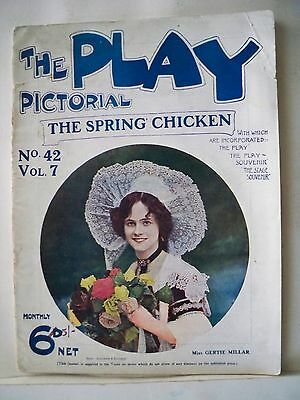 THE SPRING CHICKEN The Play Pictorial Magazine IVAN CARYLL London 1906