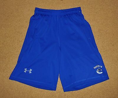 New / Ex Shop Stock Small Mens Vancouver Canucks Nhl Shorts Blue Under Armour