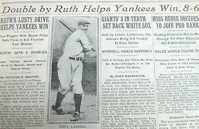 New York Times Bound Newspaper March 16-31 1931 Babe Ruth, Empire State Building