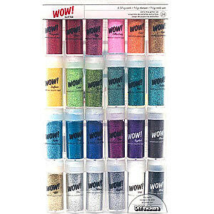 NEW American Crafts - Wow! Glitter - 24 Vials