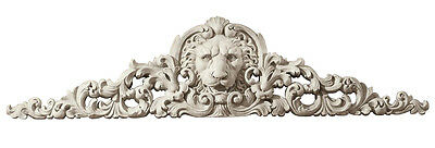 Royalty Lion Sculptural Architectural Wall Pediment 38""
