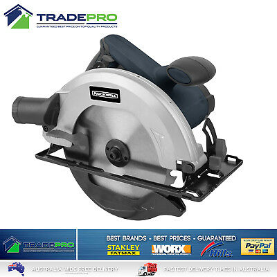 "Circular Saw 185mm Electric 71/4"" PRO with Wood Cutting Blade & Dust Extraction"