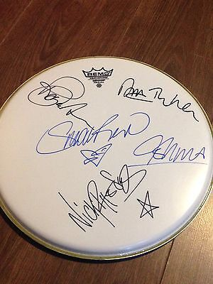Authentic Rare Duran Duran  Signed Remo Drumskin.....real Signatures By All 5