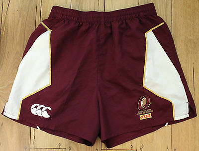 Mens NRL State Of Origin Queensland Maroons Player Issue Training Shorts Size S