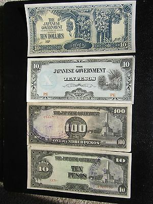 JAPANESE GOVERNMENT (Ten) Dollars WWII BANKNOTE Invasion Money Unc.