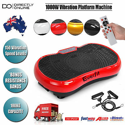 1000W Vibrating Plate Standing Exercise Machine Workout Equipment Home Gym New