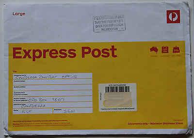Australia Palmerston NT instructional marking EXPRESS POST commercial cover