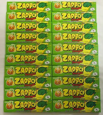 20 x 26g PACKETS OF ZAPPOS -  7 SOUR PINEAPPLE FLAVOURED CHEWS