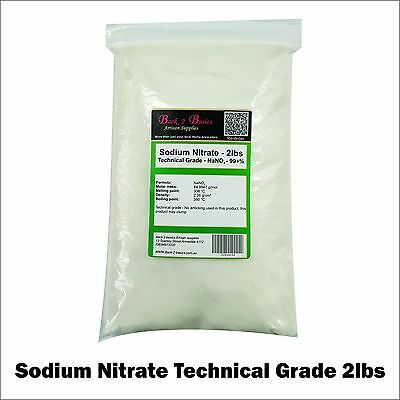 2lbs - Nitrate of Soda (Sodium) - TECHNICAL GRADE - NaNO3 - Peru Chile saltpeter