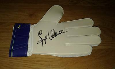 """Authentic Signed Sepp Maier Germany  """" Die Katze """"  Keepers Glove ...real Sig.."""