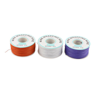 3 Pcs High Temperature Resistant Wraping Wire B-30-1000 White Purple Orange