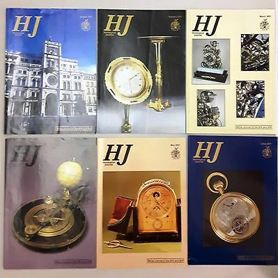 HOROLOGICAL JOURNAL MAGAZINES -  2001 - Twelve copies - Jan to Dec.