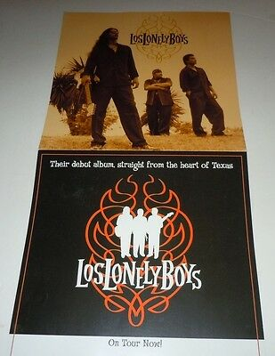 LOS LONELY BOYS~Promo Poster Flat~Double Sided~12x24~NM~2004