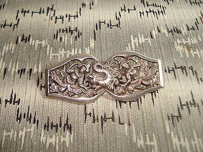 Broche en Argent Décor Asiatique Dragon - Silver Brooch