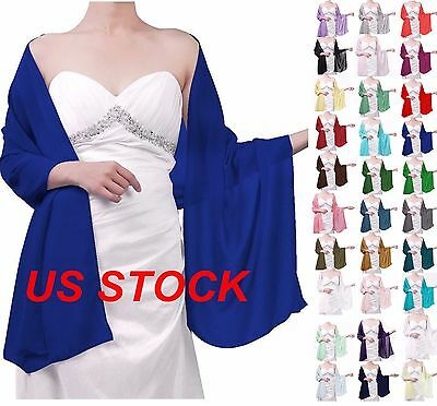 STOCK New Chiffon Bridal Bridesmaid Wedding/Prom Shawl/Stole/Wrap/Sash/Cover Up