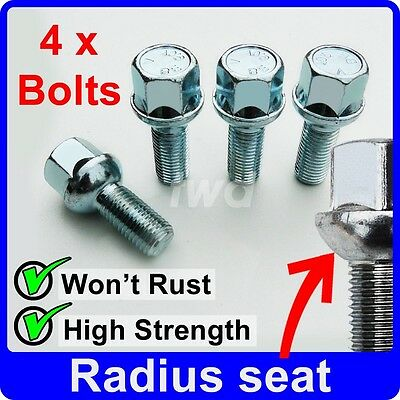 5 Stud 20 12x1.5 Nuts for Vauxhall Astra H 04-09 Alloy Wheel Bolts Black