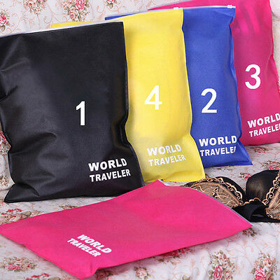Waterproof Laundry Pouch Storage Bag Portable Travel Shoes Packing Clip Bags