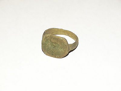 Perfect Antique Early Medieval finger ring-seal . c1400-1500 AD • CAD $69.30