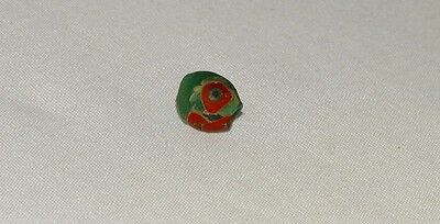 Ancient Roman Rare glass bead with eyes,1800 years old .9 x 8 mm.